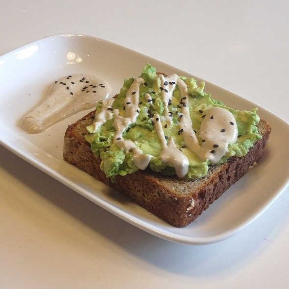 Avocado And Black Sesame Toast @ Toby's Estate Coffee