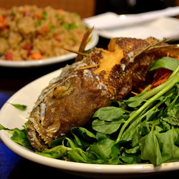 Opaka-paka fish  @ Side Street Inn