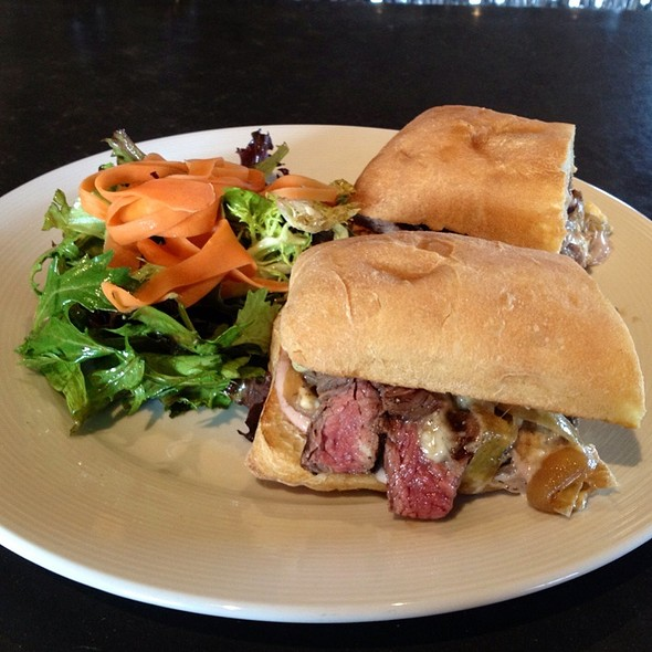 Flank Steak Sandwich With Mixed Greens - Purple Cafe and Wine Bar - Kirkland, Kirkland, WA