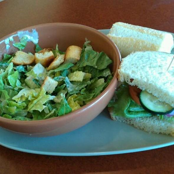 Pick 2 1/2 Med Veggie On Sourdough & 1/2 Caesar, With Side Of Bread @ Panera Bread