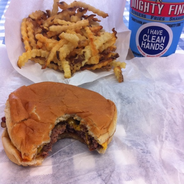 Bacon Cheeseburger And Fries @ Mighty Fine Burgers
