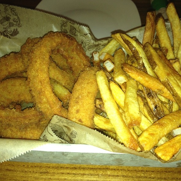 French Fries And Onion Rings @ Bare Burger