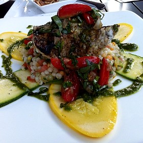Red Snapper With Squash And Couscous