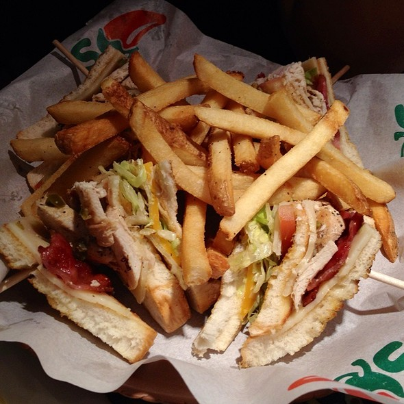 Cajun Club Sandwich with French Fries @ Chili's