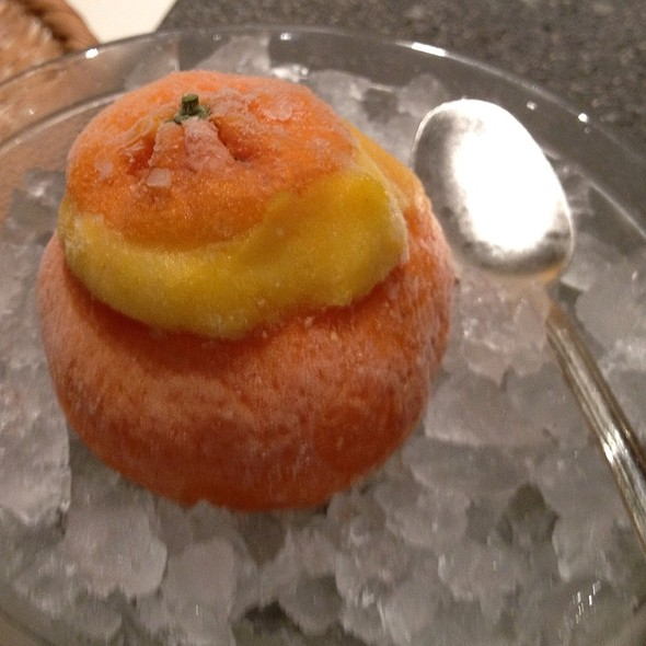 orange sherbet @ Robatayaki