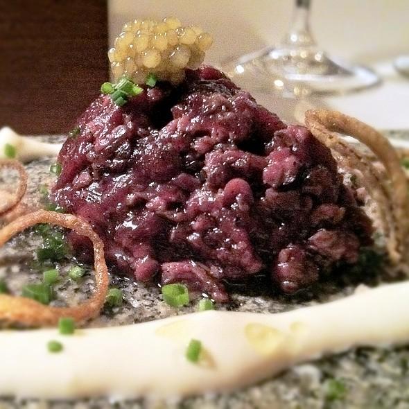 Reindeer Tartar, Cold-Smoked Eel, Iranian Caviar @ Frantzén/Lindeberg