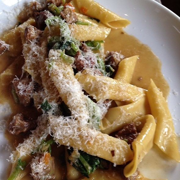 Strozzapretti with Braised Pork Shoulder & Spinach @ Flour and Water