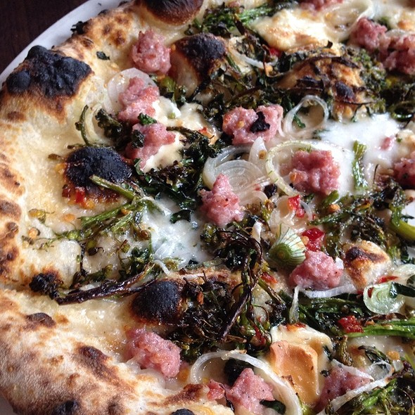 Sausage and Broccoli Rabe Pizza @ Flour and Water