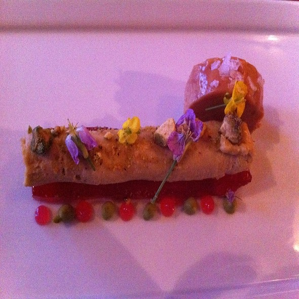 Foie Gras Parfait On Rubarb Jelee And Poached Torchon