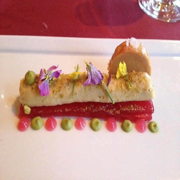 Foie Gras Parfait With Rhubarb Parfait Crabapple Gastric And Foie Torchon