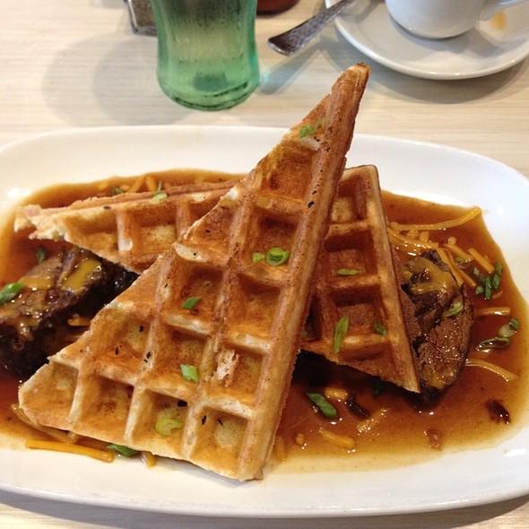 Short Rib And Cheddar Waffles @ Waffles