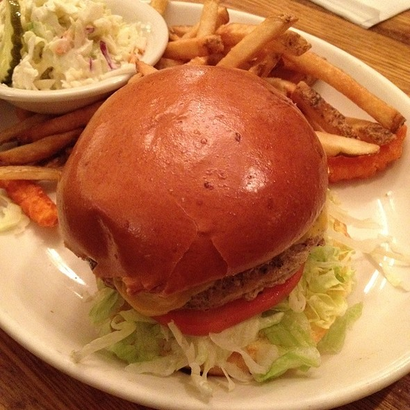 Turkey Burger With French Fries  @ Charlie Brown's Steakhouse