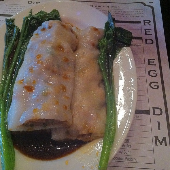Steamed Beef Rice Rolls @ Red Egg