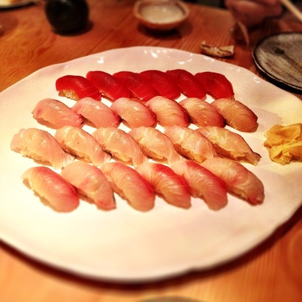 Assorted nigiri @ Pabu Restaurant