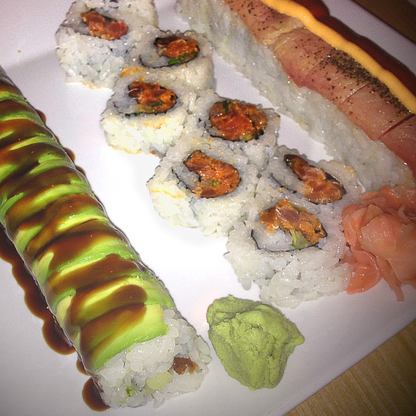 Caterpillar Roll, Spicy Tuna Roll and Specialty Roll @ Hon Machi Sushi and Teppanyaki