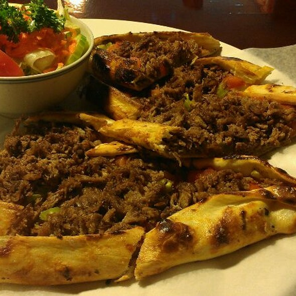 Spicy Ground Beef Pide @ Zeitoun Restaurant