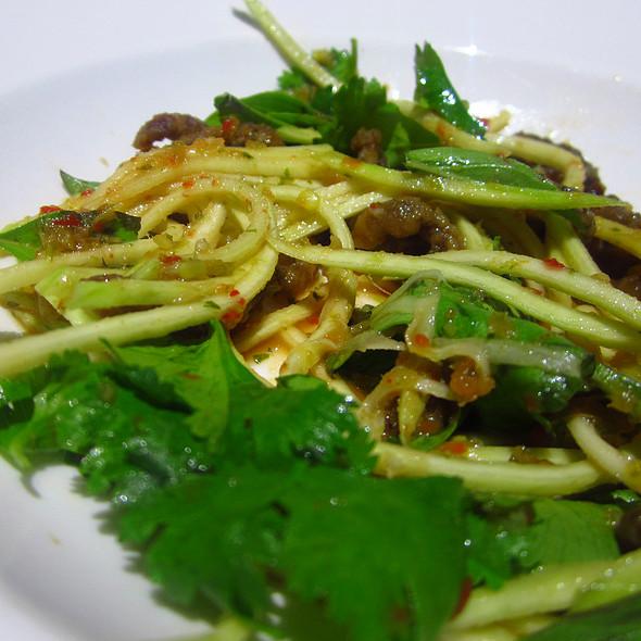 Crispy Beef Noodle Salad @ Inamo St James