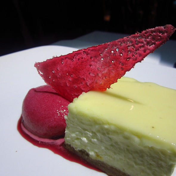 Coconut cheesecake with cherry sorbet @ Inamo St James