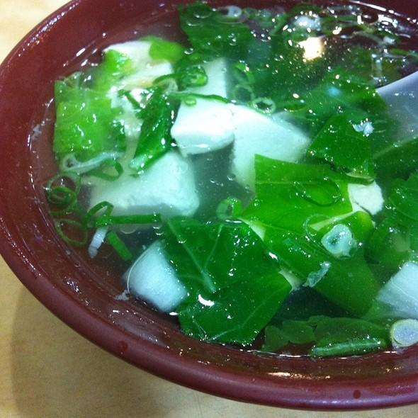 青菜豆腐湯 @ 小樂天餃子館創始店
