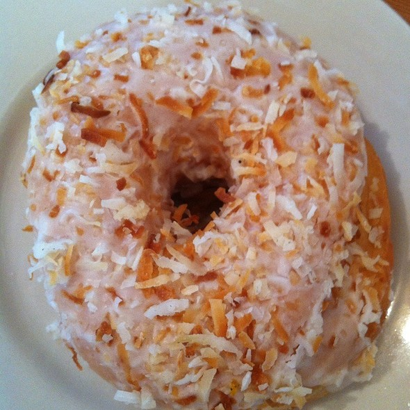 Toasted Coconut Doughnut From @Doughbrooklyn @ Steeplechase Coffee