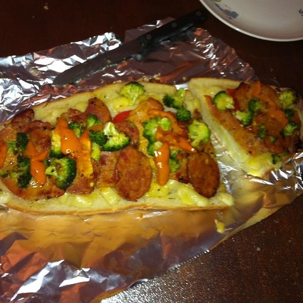 Garlic Bread Pizza @ Home