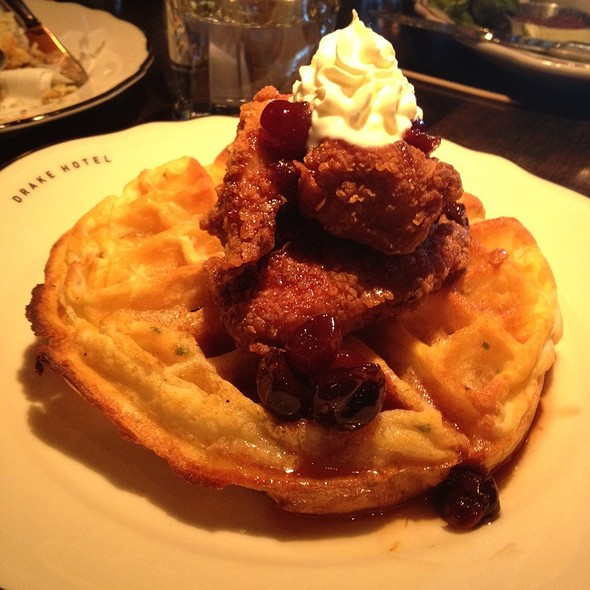 Southern Fried Chicken And Waffles @ Drake Hotel