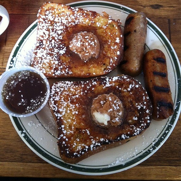 Brioche French Toast & Sausage @ Queens Comfort