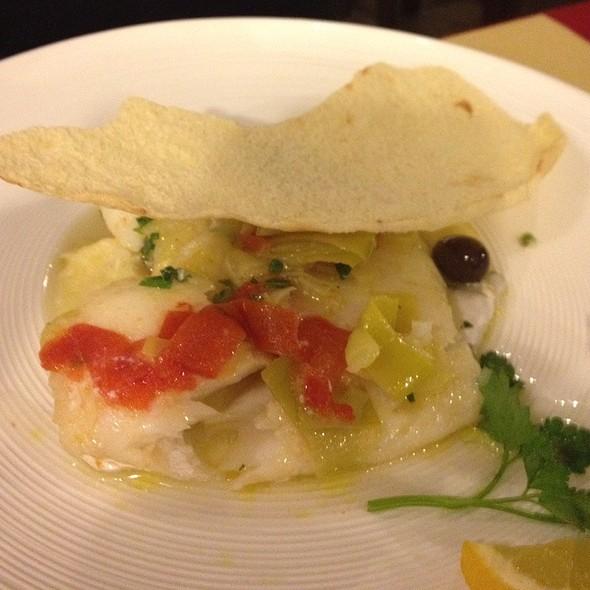 Baccalà Con Porri E Pomodorini Su Purè Di Patate (Cottura Sottovuoto A Bassa Temperatura) @ La Botte Gaia