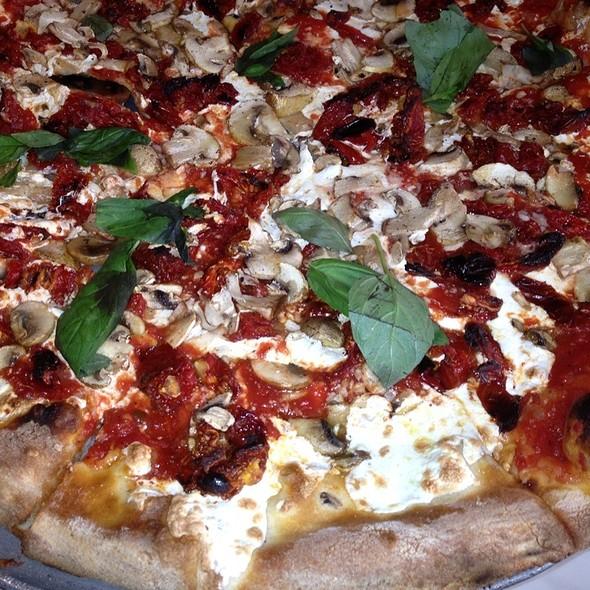 Mushroom Sundried Tomato Pizza @ Angelo's Pizza
