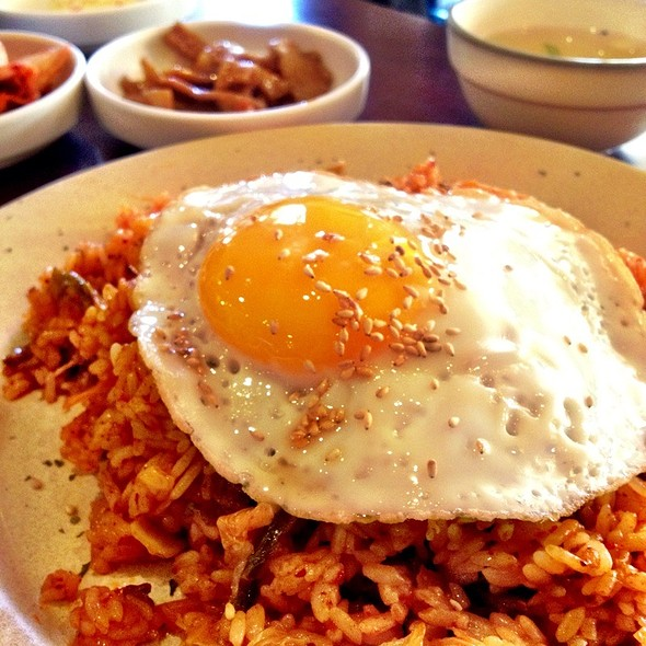 Kimchi And Beef Fried Rice @ Joons Restaurant