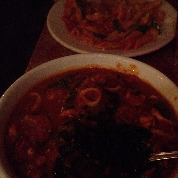 Black Linguini With Calamari And Penne With Tomato @ Frank Restaurant