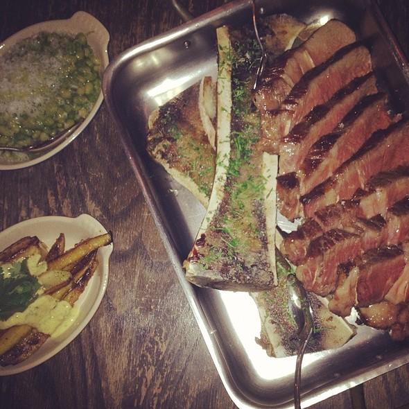 côte de boeuf with bone marrow and watercress salad - Chiado, Toronto, ON