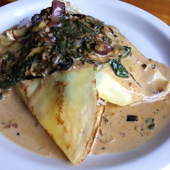veggie stuffed crepes - The Frog and Turtle, Westbrook, ME