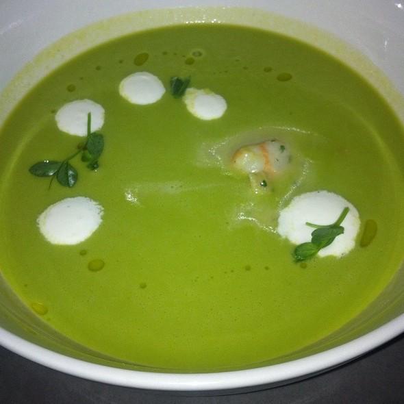 Cold Pea Soup @ The Burritt Room