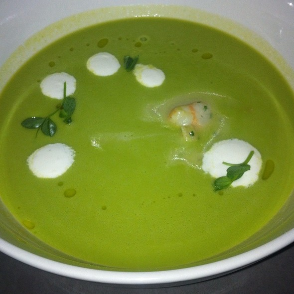 Cold Pea Soup @ The Burritt Room