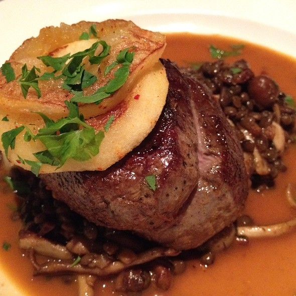 Filet Mignon, Parsnips Puree, Leek And Morel Mushroom Sauce @ Fringale Restaurant
