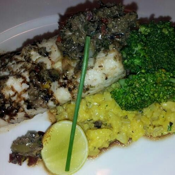 Pan Seared Fish With Saffron Risotto @ Indigo Delicatessen