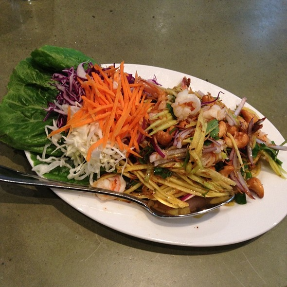 Green Mango Salad At Celadon Thai Kitchen