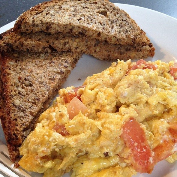 Egg Cheese And Tomato And Multi Grain Toast  @ 92YTribeca