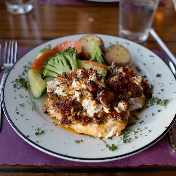Grilled Grouper W/Sun-Dried Tomato Pesto & Feta @ Dinky's Waterfront Restaurant