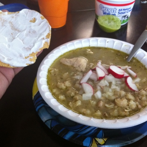 Green Chicken Pozole @ Jorge, Jamie, Jacob, and Jaxons House