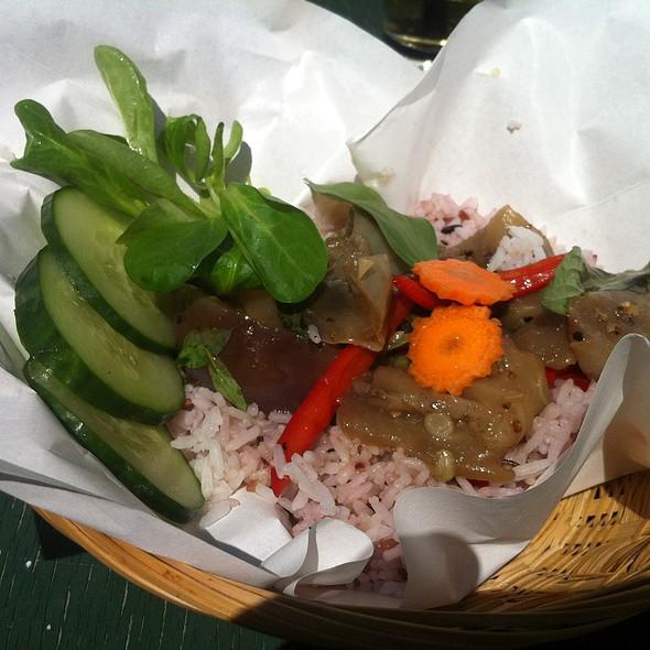 Stir-fried Eggplant with Sweet Basil & Jasmine Rice @ Mamamon @ Adria