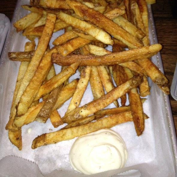Fries With Garlic Aioli @ Double Wide Bar & Southern Kitchen