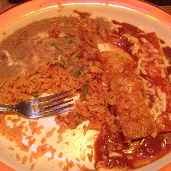 Cheese Enchilada & Beef Enchilada @ La Cocina Bar & Grill