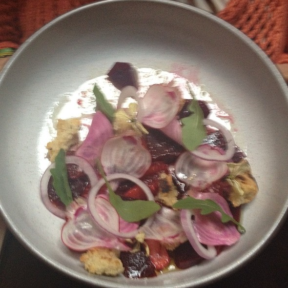 Beet Salad With Strawberries And Raspberries @ The NoMad