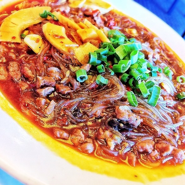 Mung Bean Noodles With Ground Beef @ Hunan Gardens