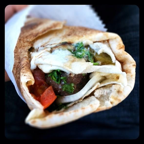 Beef Kabob Sandwich @ Kabob Kabob