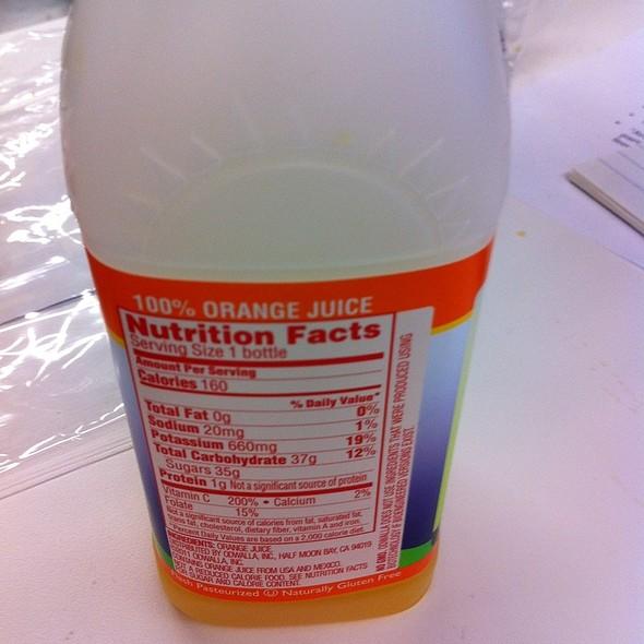 Orange Juice @ Facebook Epic Cafe