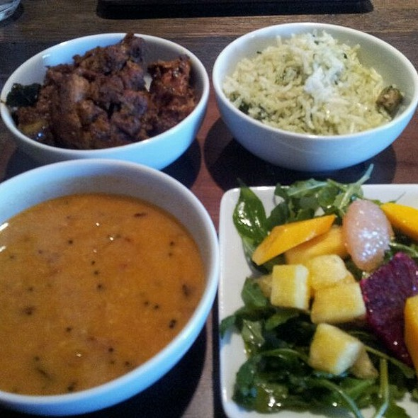 Non-Vegetarian Thali-Style Lunch Special @ Cardamom Hill