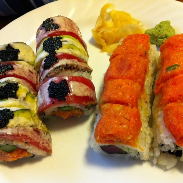 Black Dragon And Tuna Lovers Rolls @ Haruki East
